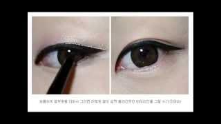 корейский макияж на глаз стрелки(Альбина корейский макияж на глаз., 2014-10-15T13:37:47.000Z)