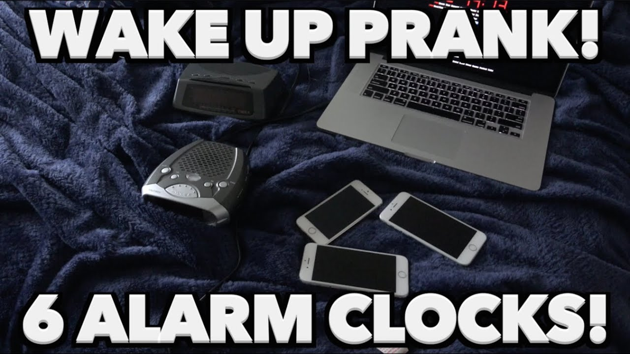 WAKE UP SCARE PRANK ON GRANDMOM! - 6 ALARM CLOCKS - FUNNY REACTION