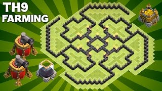Clash of Clans - BEST Town Hall 9 (TH9) Farming Base with 2 AIR SWEEPERS Defensive Layout