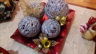 DIY   Bolas para enfeitar árvore de Natal e enfeitar mesas