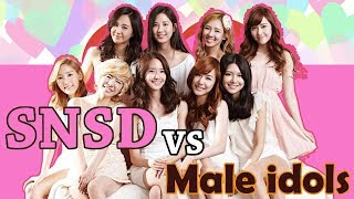 When SNSD Girls Generation Meet Male idols Funny and Romance Moments ft (super junior Exo and more.) - Stafaband