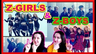 NEW GLOBAL IDOL GROUPS: Z-GIRLS & Z-BOYS (WHAT YOU WAITING FOR/NO LIMIT) MV REACTION