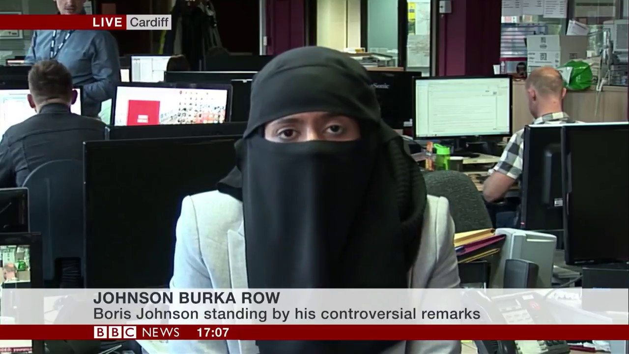 Row over Boris and letterbox Islamic full face covering 08Aug18