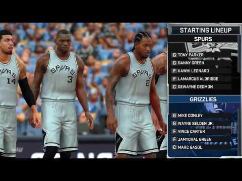 NBA 2K17 PS4 NBA Playoffs Game 4 Round 1 San Antonio Spurs vs Memphis Grizzlies