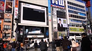 【震災から3年】新宿アルタ前で行われた黙とうの様子