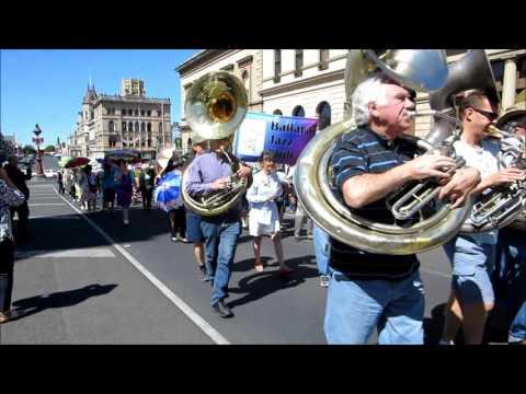 Australian Jazz Convention 2015, Street Parade, Ballarat