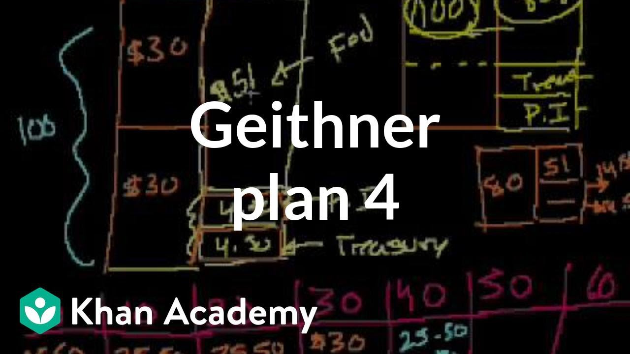 Geithner plan 4 | Money, banking and central banks  | Finance & Capital Markets | Khan Academy
