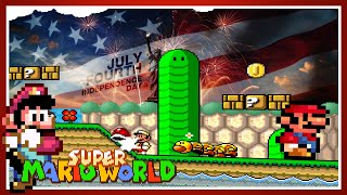 Mario Rescues 4th of July • Super Mario World ROM Hack
