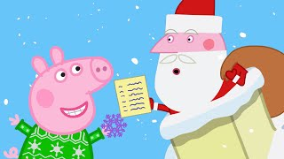 Peppa Pig Full Episodes   Santa Comes to Visit   Kids Videos