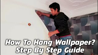 How to hang wallpaper | How to paste wallpaper on wall [Hindi]