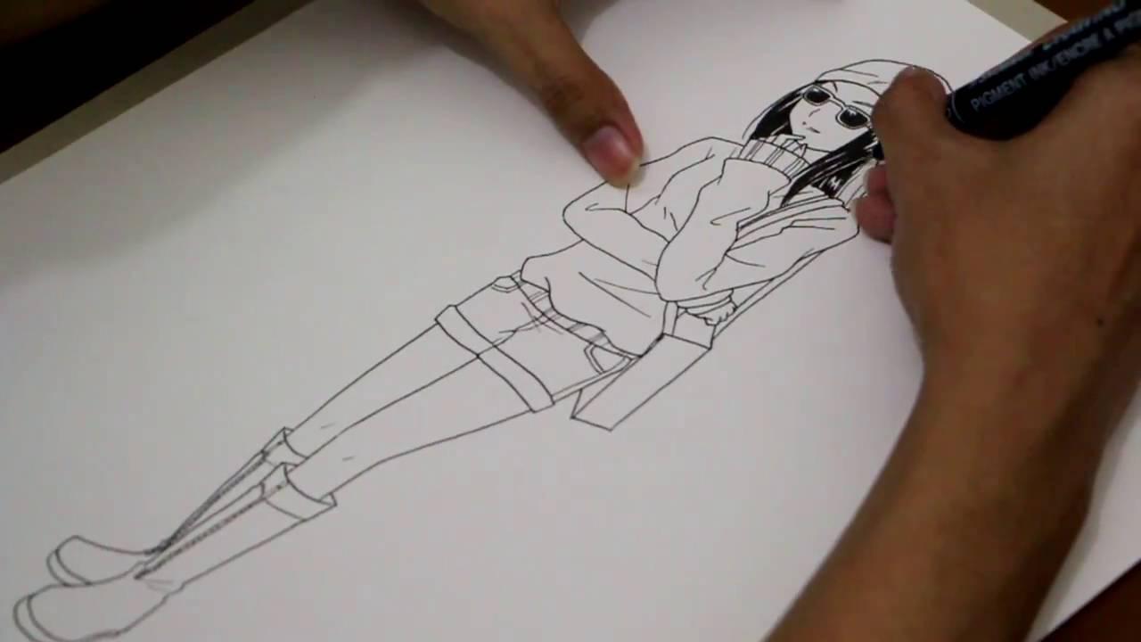 How to draw anime characters full body drawing tv id