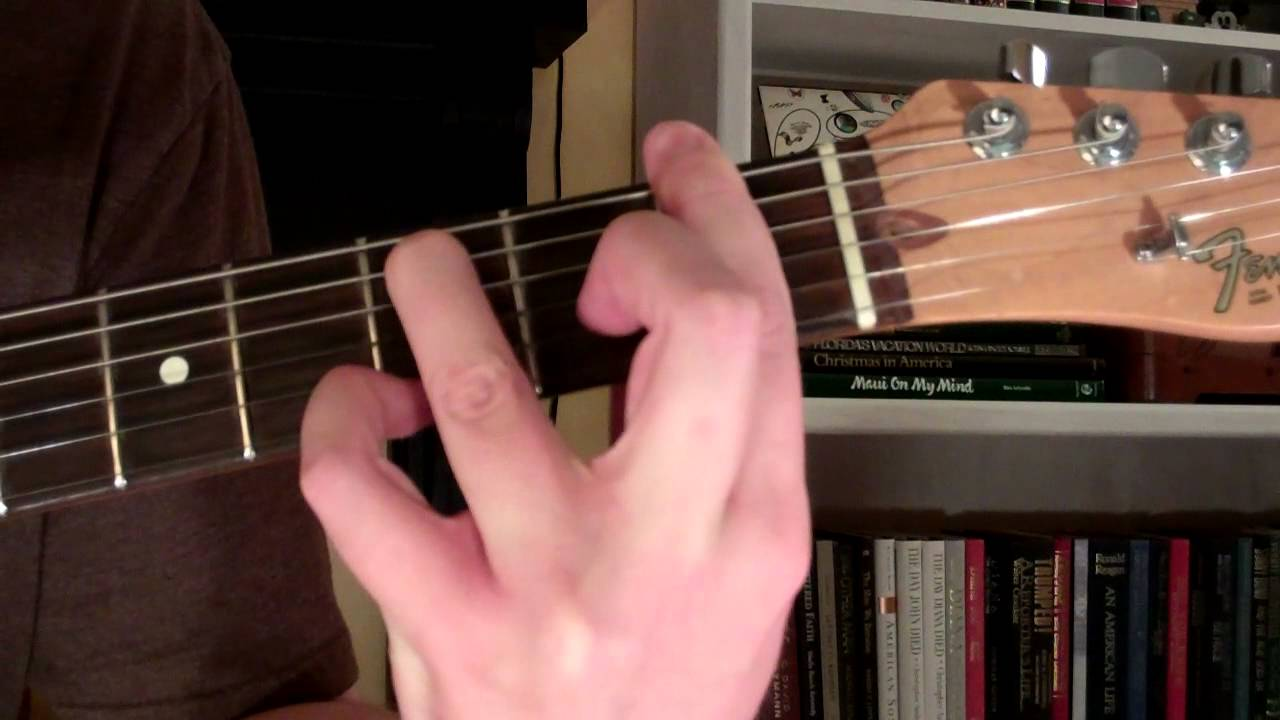 How To Play The Fm9 Chord On Guitar F Minor Ninth 9th Youtube