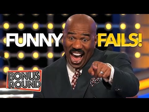 FUNNY FAILS & Moments On Family Feud USA! Bonus Round