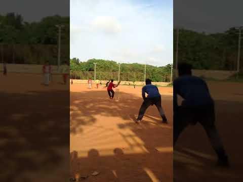 Munaf Hitting six at jp park ground, Bangalore.