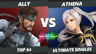 Smash Ultimate Tournament - Ally (Snake) Vs. TFL | Athena (Robin) Splat Bros. SSBU Top 64