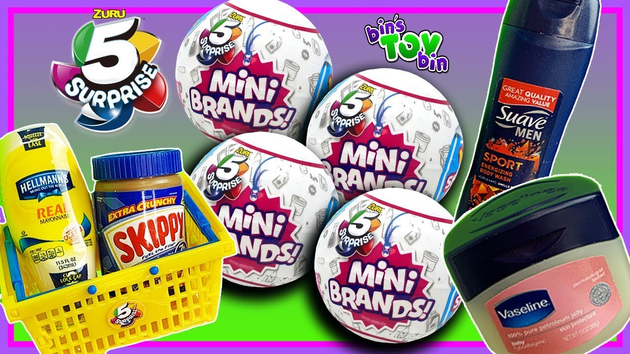 Mini Brands New 5 Surprise Blind Capsules Will We Find Gold