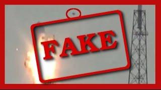 FAKE !!! SpaceX Explosion Fake UFO ENG