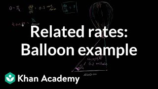 Related rates: balloon | Applications of derivatives | AP Calculus AB | Khan Academy