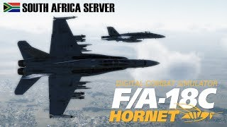 DCS: F/A-18C Hornet Air to Air Online Practice working on Team Chemistry