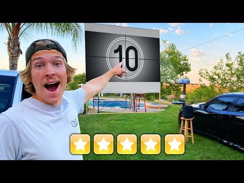 Opened 5 STAR Drive in Movie Theater in our BACKYARD!