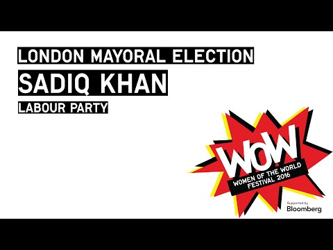 London Mayoral Election - Sadiq Khan, Labour Party, at WOW 2016