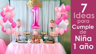 Motivos de cumpleaños de niña de 1 año