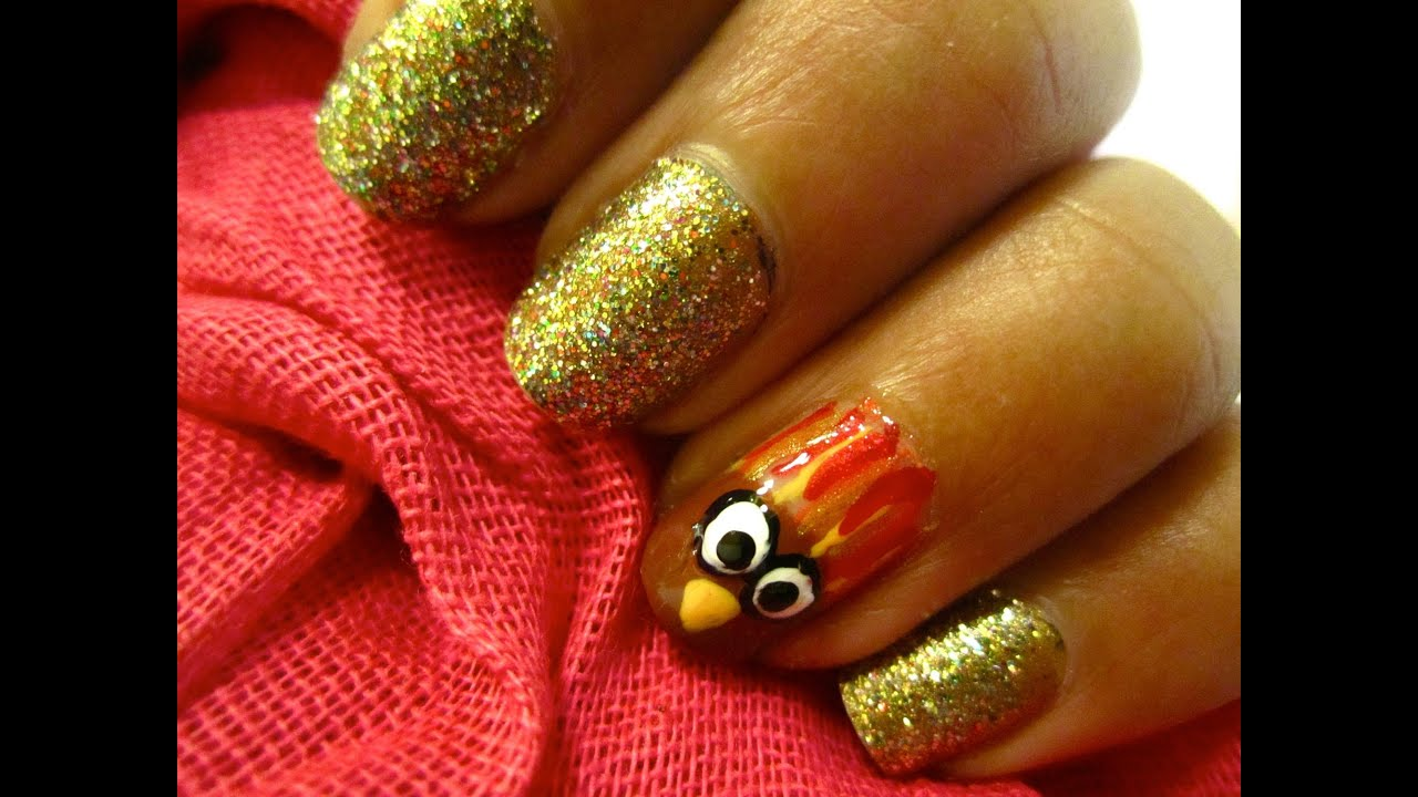 Thanksgiving Nail Art - YouTube