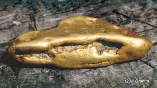Das Rheingold ist kein Mythos, Goldwaschen im Quellgebiet.