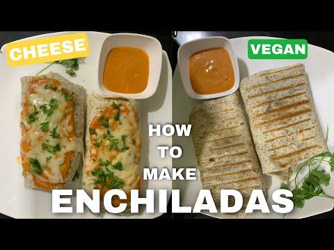 (Mexican) Enchiladas (vegan & also with cheese)