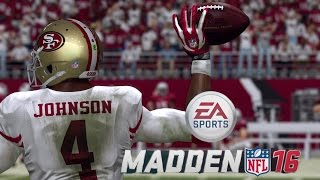 MADDEN 16 CAREER MODE QB JJ JOHNSON - 49ERS VS CARDINALS