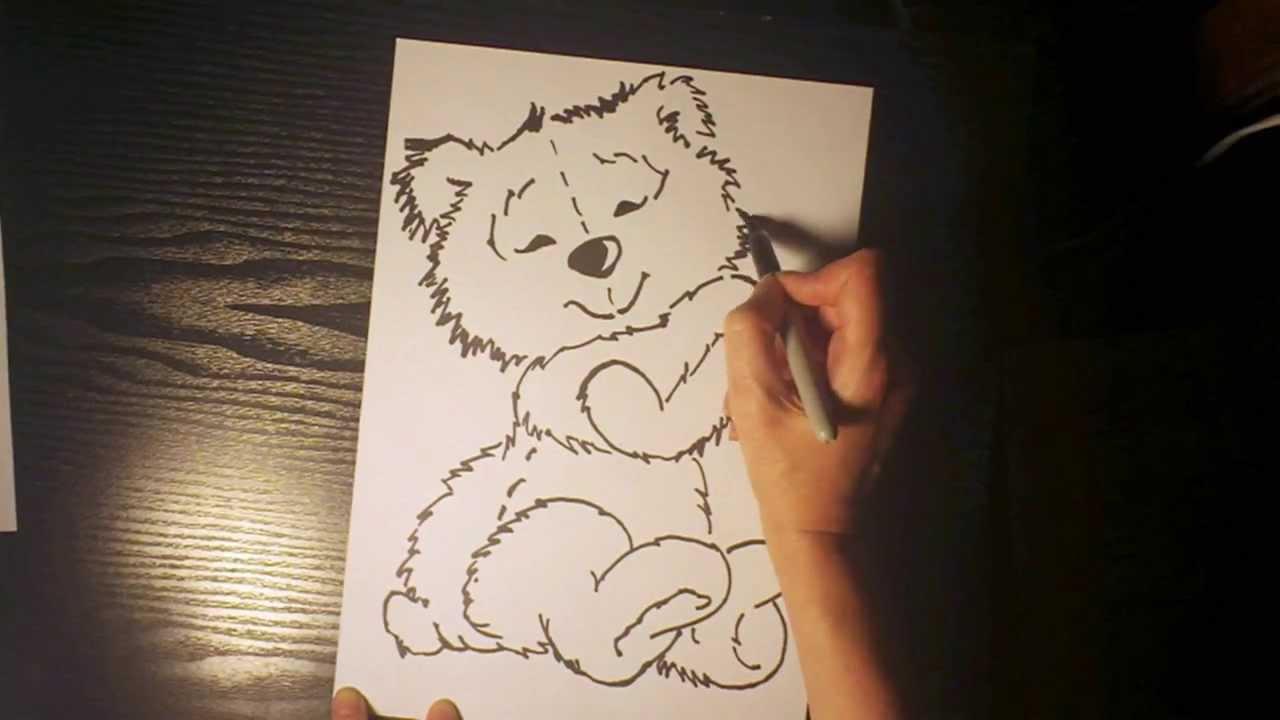 нарисовать медведя карандашом пошагово фото