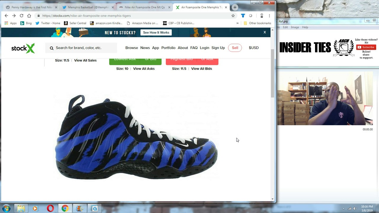 Nike Air Foamposite One 314996 900 Unisex Black Reflective ...