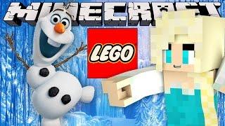 Minecraft - LEGO BUILDING CHALLENGE - Frozen (Elsa , Olaf, Castle & Sven)!