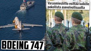 Suomen asevelvollisuuteen muutos? Lentokone upotettiin mereen - miksi?