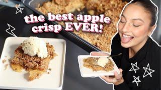 the best vegan apple crisp recipe OF ALL TIME!