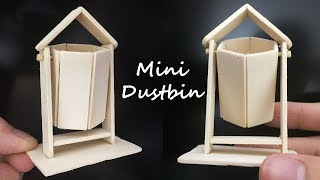 How To Make Dustbin By Using Popsicle Stick | Stick Craft Ideas | Diy Craft