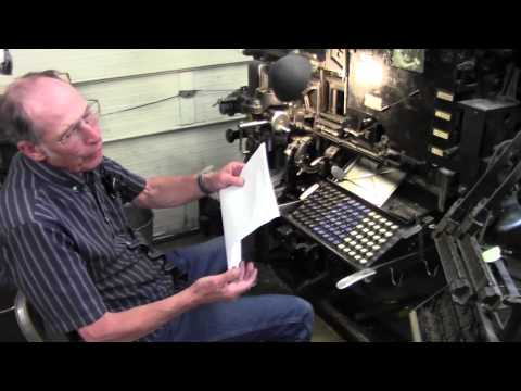 Antique Letterpress and Craftsman Bookbinding
