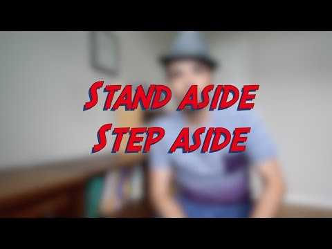 Stand aside / Step aside - W10D2 - Daily Phrasal Verbs - Learn English online free video lessons