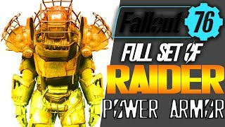 Fallout 76 how to get a full set of raider power armor | All power armor in the toxic valley