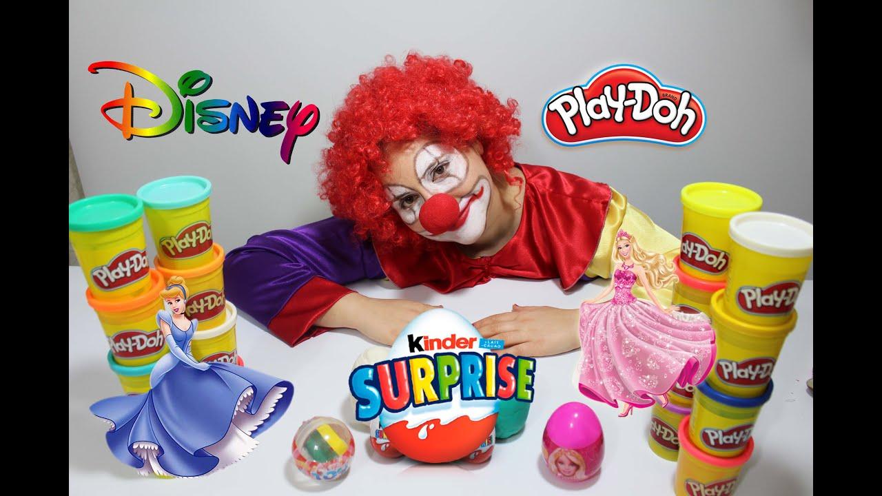 Clown Toys Kinder Eggs Vampire Minions Barbie Eggs