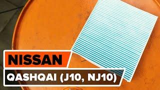 Cum se înlocuiesc Filtru habitaclu NISSAN QASHQAI / QASHQAI +2 (J10, JJ10) - tutoriale