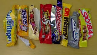 American Candy Bar Battle | 9 Bars Variety Review