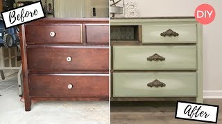 Blending Paint on Furniture | Dresser Makeover | Before and After | Ashleigh Lauren