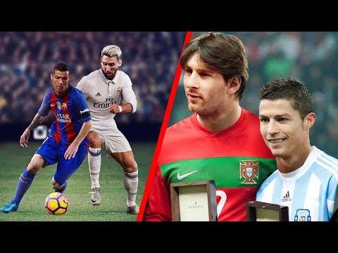 ¡Esto pasaría si CR7 jugara para Argentina y Messi para Portugal!
