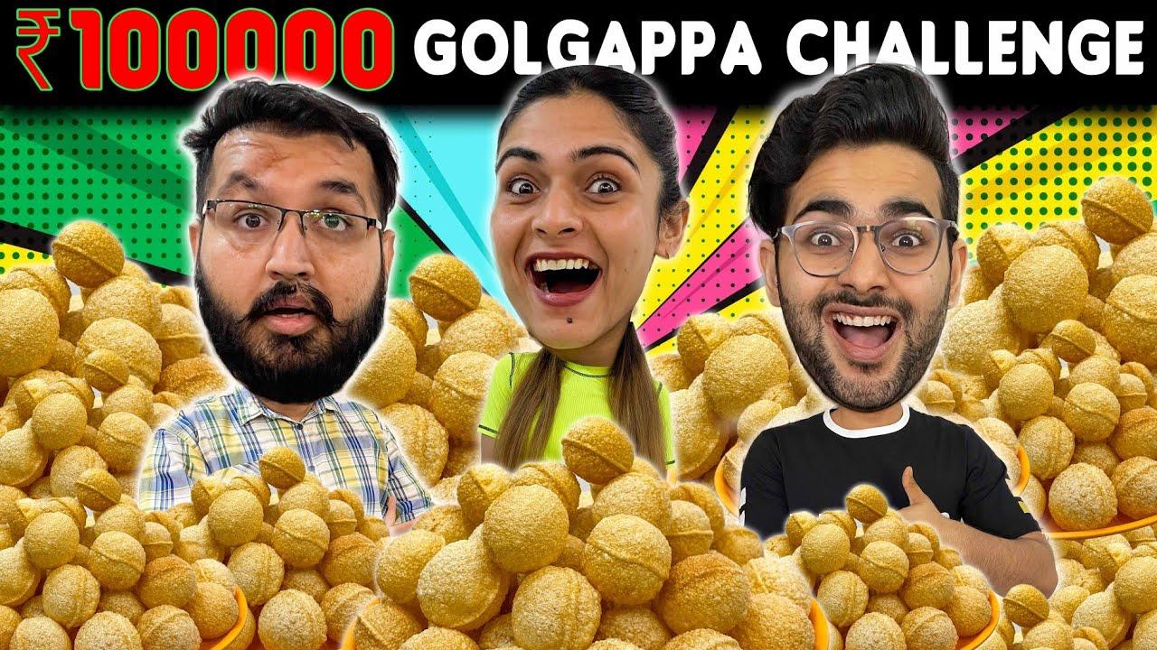 Rs 1 LAKH Gol Gappa FOOD CHALLENGE 😱