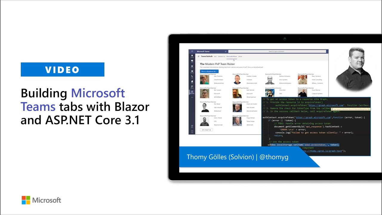 Community demo – Building Microsoft Teams tabs with Blazor and ASP.NET Core 3.1