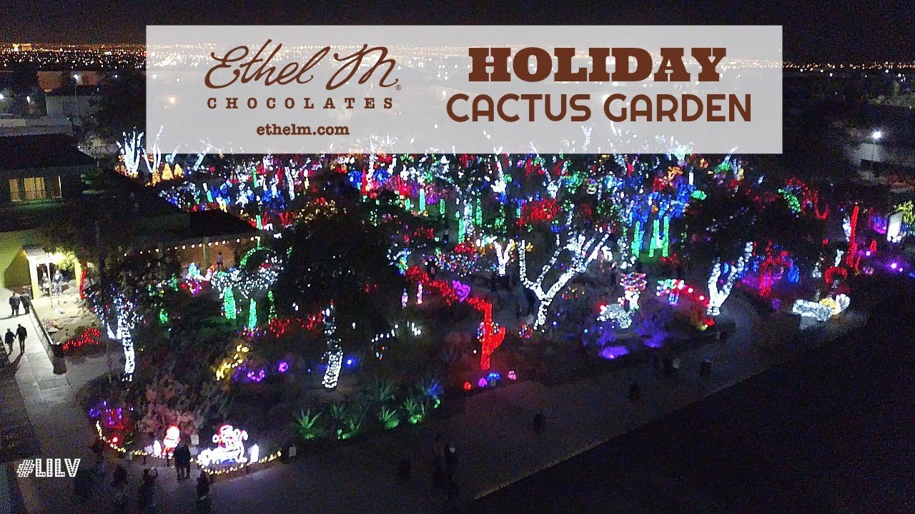 Christmas in vegas pt 3 ethel m 39 s holiday cactus garden - Ethel m cactus garden christmas 2017 ...