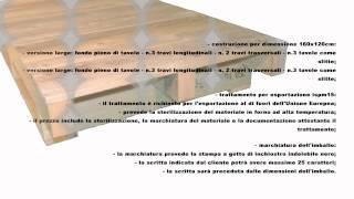 Pallet in legno con travatura Video