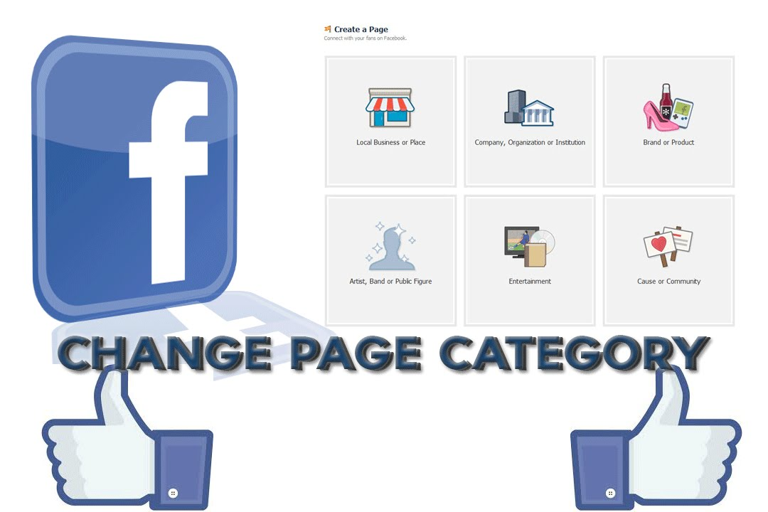 How to change category on facebook page on mobile