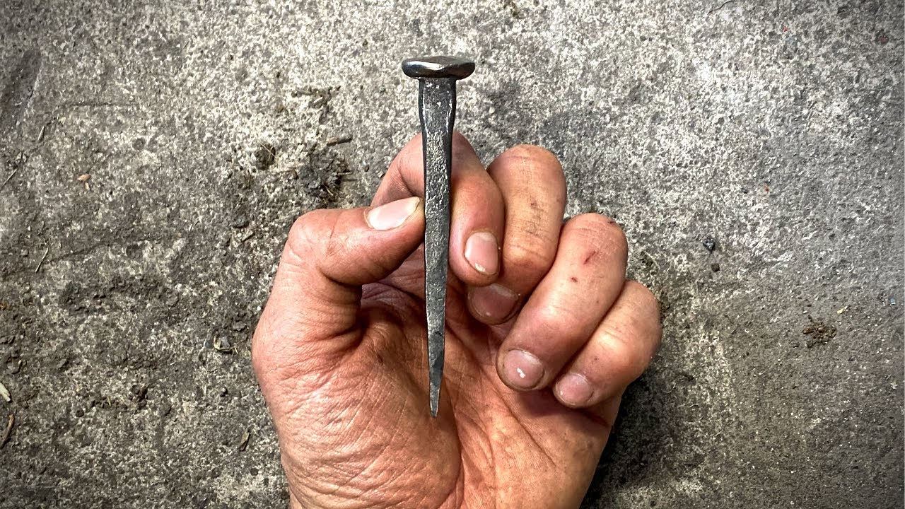 Hand Forging a Nail for the First Time: Beginner Blacksmithing
